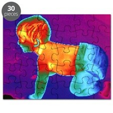 Thermogram of a baby Puzzle