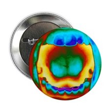 "Thermogram of a woman's mouth and tee 2.25"" Button"