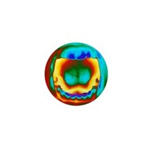 Thermogram of a woman's mouth and teet Mini Button