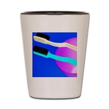 Toothbrushes Shot Glass