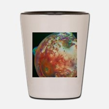 Voyager image of Io showing volcanic pl Shot Glass