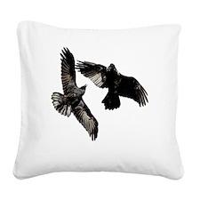 Raven Dance Square Canvas Pillow