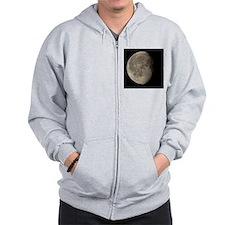 Waning gibbous Moon Zip Hoodie