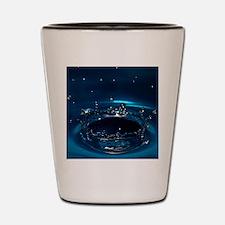 Water drop impact Shot Glass