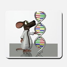 Transgenic mouse, conceptual artwork Mousepad