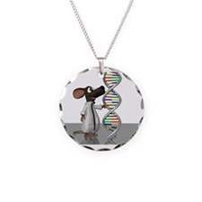 Transgenic mouse, conceptual Necklace Circle Charm