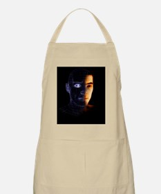 Wire-frame face Apron