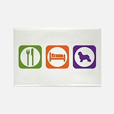Eat Sleep Schapendoes Rectangle Magnet