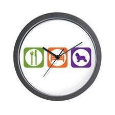 Eat Sleep Schapendoes Wall Clock