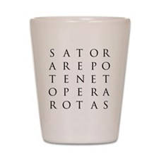 Sator Square Shot Glass