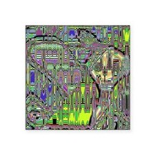"Gumby Loves Gidget B IO Square Sticker 3"" x 3"""
