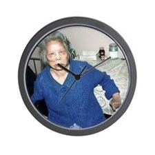 Woman with leprosy Wall Clock