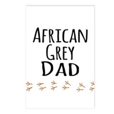 African Grey Dad Postcards (Package of 8)
