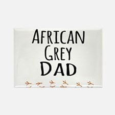 African Grey Dad Magnets