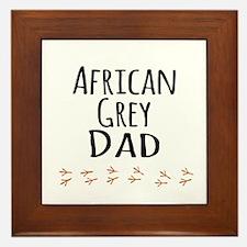 African Grey Dad Framed Tile