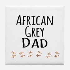 African Grey Dad Tile Coaster