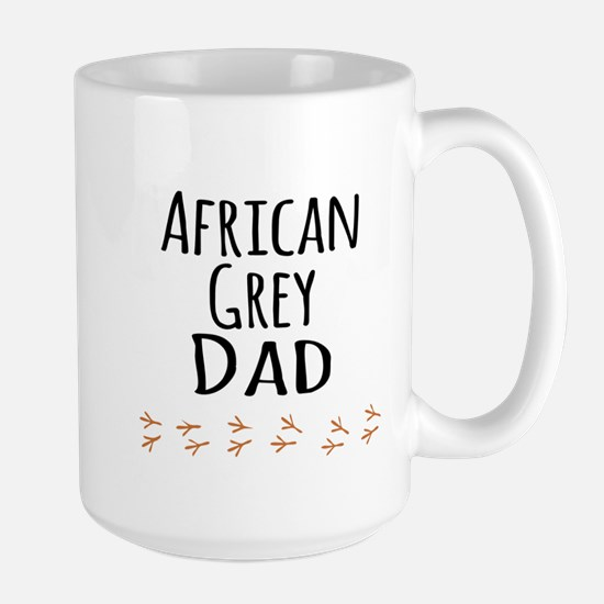 African Grey Dad Mugs