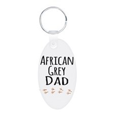 African Grey Dad Keychains