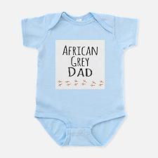 African Grey Dad Body Suit