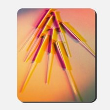 View of several acupuncture needles Mousepad