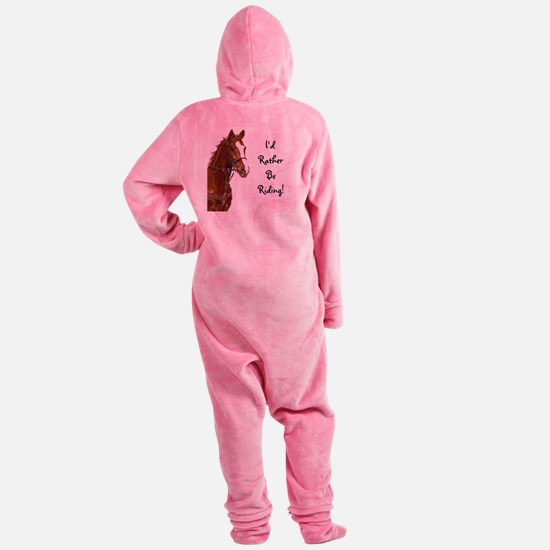 Id Rather Be Riding! Horse Footed Pajamas