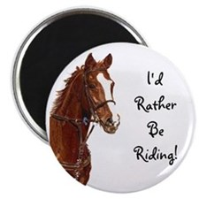 Id Rather Be Riding! Horse Magnet