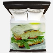 Toasted cheese sandwich King Duvet
