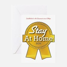 Stay at Home Son Greeting Card