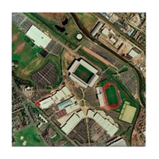 Wigan Athletic's JJB Stadium, aerial  Tile Coaster
