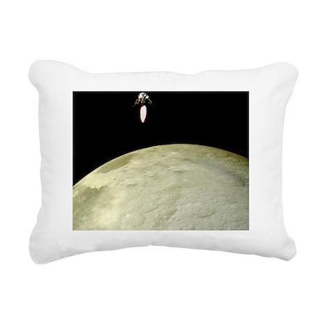 Apollo moon landing Rectangular Canvas Pillow