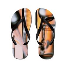 Assortment of laboratory glassware Flip Flops