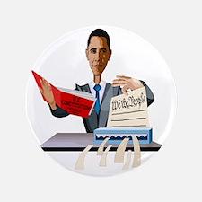 """Obama Shredding the Constitution 3.5"""" Button"""