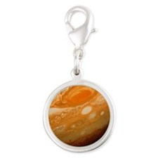 Voyager 1 image of the planet  Silver Round Charm