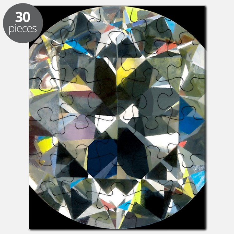 Cut and polished diamond Puzzle