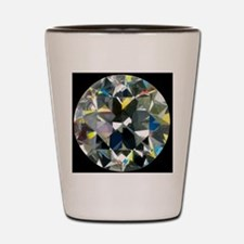 Cut and polished diamond Shot Glass