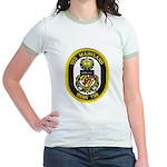 USS MARYLAND Jr. Ringer T-Shirt