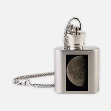 Waning gibbous Moon Flask Necklace