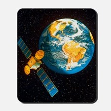 Artwork of a communication satellite ove Mousepad