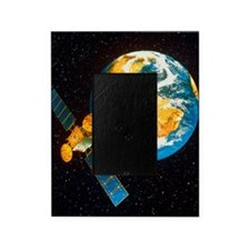 Artwork of a communication satellite Picture Frame