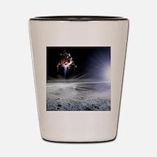 Apollo 11 Moon landing, computer artwor Shot Glass