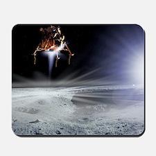 Apollo 11 Moon landing, computer artwork Mousepad