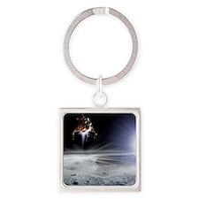 Apollo 11 Moon landing, computer a Square Keychain