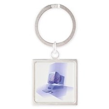Artificial intelligence Square Keychain