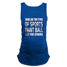 Paint Ball Designs Maternity Tank Top