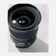 Wide-angle zoom camera lens Throw Blanket