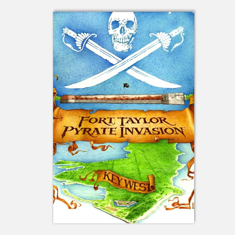 Fort Taylor Pyrate Invasi Postcards (Package of 8)