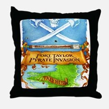 Fort Taylor Pyrate Invasion Throw Pillow