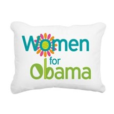 Women for Obama Rectangular Canvas Pillow