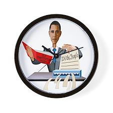 obamashred_middle Wall Clock