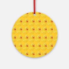 Rubber Duck Pattern Round Ornament